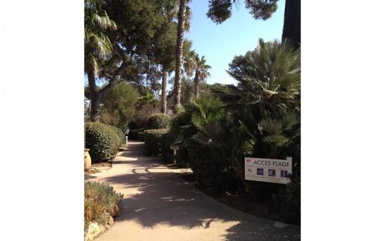 Sentier pour accès plage